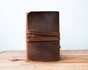 Leather journal refillable, Leather Journal Cover, A5 Refilable Cover, Moleskine Leather cover