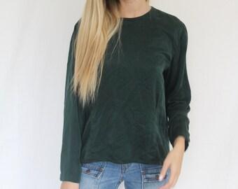 50% off ! deep emerald silk