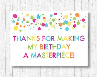 Art Party Favor Tags / Art Party Thank You Tags / Art Party Tags / Painting Party Tags / Art Party Birthday / INSTANT DOWNLOAD A215