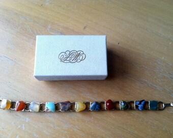 Assorted Gemstone Bracelet New Old Stock