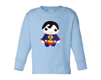 Kids Superhero Shirt - Super Baby - Long Sleeved Kids T-Shirt - Children's Clothing - Gift