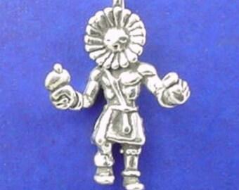SUN DANCER Kachina Charm .925 Sterling Silver Native American Indian Pendant - lp1715
