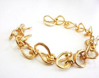 Gold bracelet for women, Silver bracelets, Big bracelet, Contemporary bracelet, Bracelet gold, silver chain bracelet, silver artisan jewelry