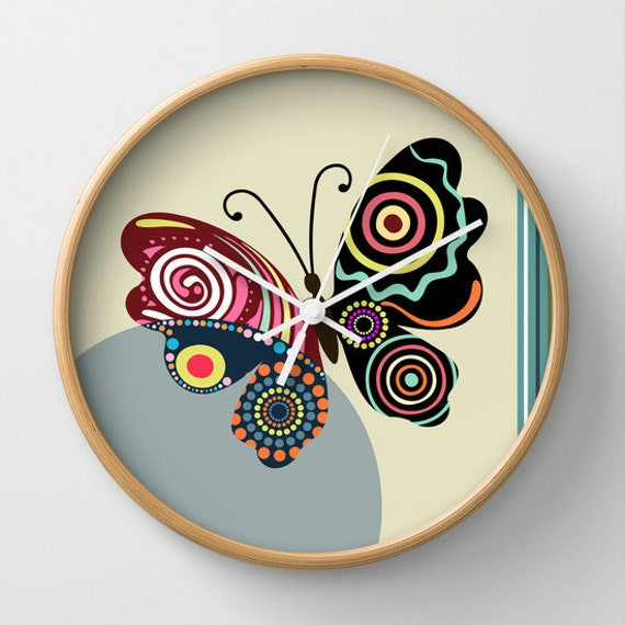 Butterfly Wall Clock, Unique Wall Clock, Wall Clock Butterfly Home Decor, Decorative Clock, Christmas Ideas