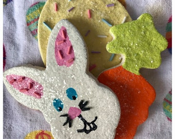 Easter Bunny Fake Cookie Set