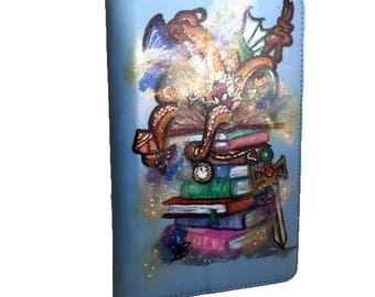 Kindle cover - hand painted custom case for kindle personalized tablet cover,handpainted kindle case,gift for reader,customized kindle case