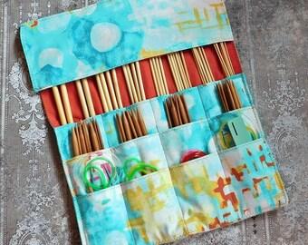 Knitting Needle Case - Needle Holder - Knitting Needle Roll - Circular Needle Storage - Double Pointed Needle Storage - Gift for Knitter