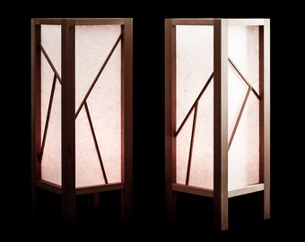 Superb Shoji Lamp 2 Piece Set With LED Candles