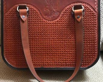 Hand Tooled Leather Tote   (P5)