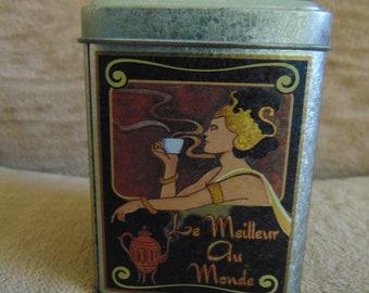 Vintage Art Nouveau Inspired Tin 1970s