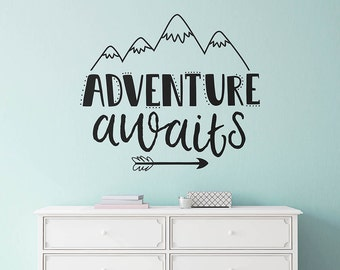 Good Adventure Awaits Wall Decal   Nursery Decal, Wall Quote, Modern Decal, Cute  Wall