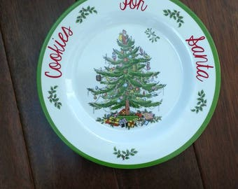 Cookies for Santa Plate, Christmas Tree Plate, Cookie Plate, Christmas Eve, Family Traditions
