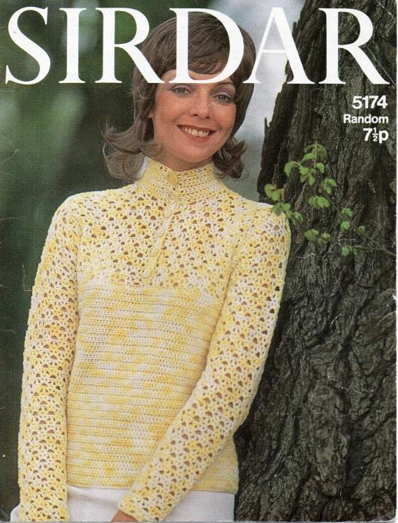 womens crochet sweater crochet pattern ladies crochet blouse vintage ...