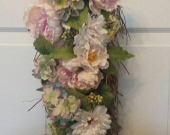 Summer wreath / holiday wreath / front door wreath / door wreath / spring wreath / peony wreath/ Easter wreath