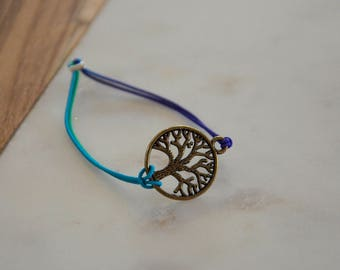 Rubber band, pendant, bracelet, jewelry, jewelry, jewellery, elastic strap, gift, gift, friendship, tree, tree, tree of life