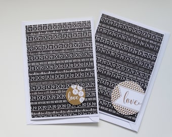 With Love, Set of 2 A6 Cards