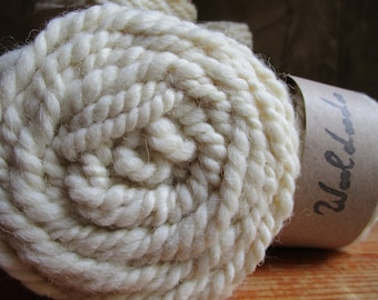 "Wool bulky yarn spun to spinning wheel ""Natura"""