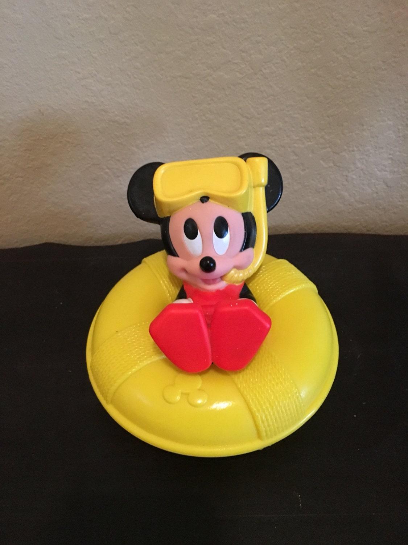 Vintage Disney Mattel 1991 Mickey Mouse baby toy bath toy