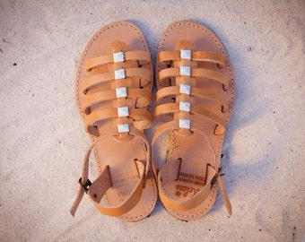 aelia greek sandals/acrobat collection/blue square /white square/devil eye