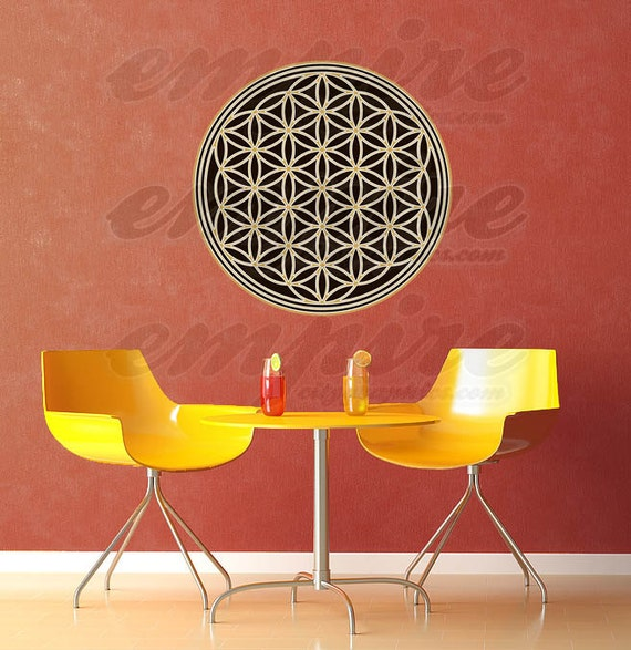 Flower of Life Full Color, Seed of Life Multi color, Flower of Life color decal