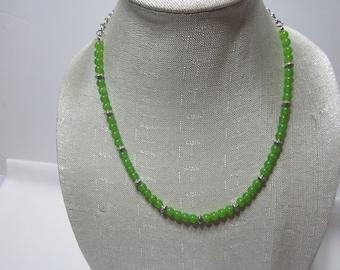 Women Green Garnet Necklace