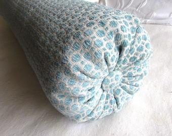 peacock blue chenille decorative Bolster Pillow 6x14  6x16  6x18  6x20  6x22