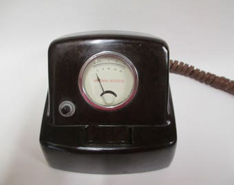 Vintage Crown Antenna Rotator, 1950s Model RC 6 with Bakelite Housing, Lights Up