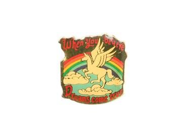 Unicorn enamel pin, dreams lapel pin, magic pin, unicorn lapel pin, fantastic lapel pin, fairy enamel pin, creature lapel pin,unicorn badges