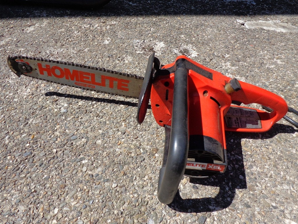 Vintage homelite xel 14 textron 14 bar 11 amp electric chainsaw sold by bringingpast2present greentooth Gallery