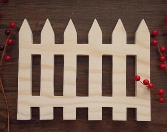 Fence Unfinished DIY Wood Decoration