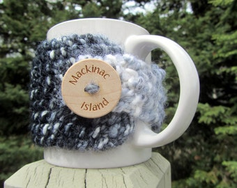 Mackinac Island, Up North, Michigan Coffee Cup Cozy, Mackinac Island Coffee Cozy, Mackinaw City, Mackinac Souvenir, Mackinac Island Michigan