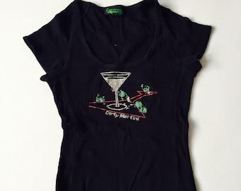 Comedy Funny Alcohol Stripper Joke Dirty Martini T-Shirt