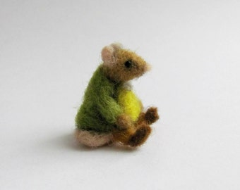 Samuel Whiskers needle felted miniature