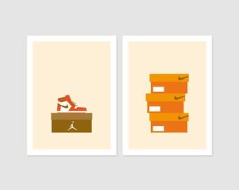Print - Offre spéciale 2 Posters - Sneakers - No2 et No3 - 30x40