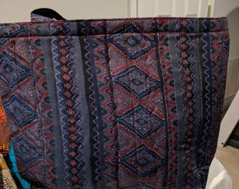 Blue & Red Quilted Totes