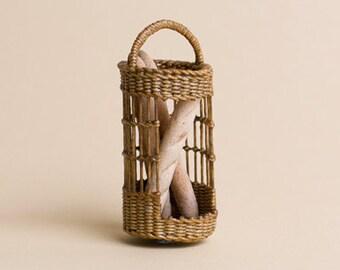 Dollhouse miniature, Wicker bred display basket, scale 1 : 12, WC/905