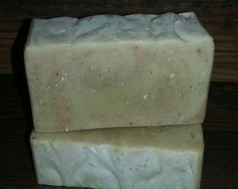 Lavender Oatmeal Goatmilk Soap ~ Organic Shea Butter, Coconut, Sunflower, Extra Virgin Olive ~  5oz. to 6oz.