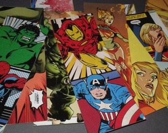 Geeky bookmark pack: Marvel