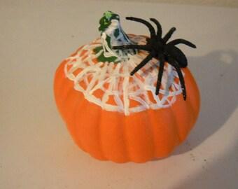 Spider Pumpkin Candle-pumpkin-candle-Halloween-Candles-Samhain-
