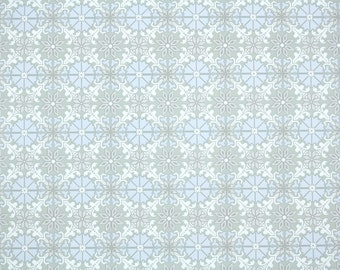 Retro Wallpaper by the Yard 70s Vintage Wallpaper - 1970s Periwinkle blue and Gray Geometric