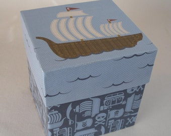 Ahoy matey pirate keepsake storage box
