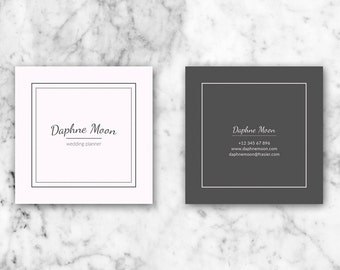 Business Cards, Business Card Template, Printable Business Card, Moo Template, Square Business Card, Calling Cards, Business card design