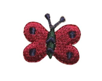 ID 2157C Cute Butterfly Patch Garden Bug Fairy Fly Embroidered Iron On Applique