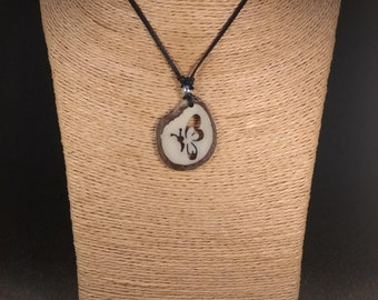 Carved Butterfly Tagua Nut Necklace