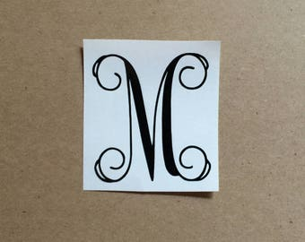 Single Initial Decal | Monogram Decal | Vine Monogram | Monogram Sticker | Laptop Decal | Car Decal | Phone Decal | Personalized Decal