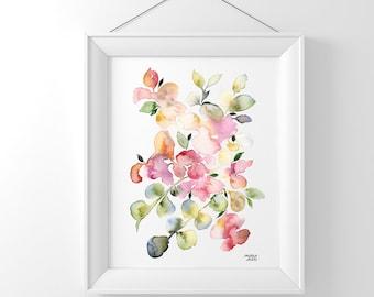 Wedding Florals - Watercolor Art Print