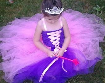 Princess Tutu Dress, Tangled Princess Dress, Rapunzel, Princess Tutu Dress, OTHER COLORS AVAILABLE!, Pink Tutu Dress, Purple Tutu Dress