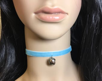 Jingle Bell Velvet Ribbon Choker Necklace Set