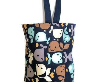 Waterproof Trash Stasher//Whale//Car Trash Bag//Small Toy Storage Bag//Organizer Bar//Car Caddy//Litter Bag//Hanging Litter Bag