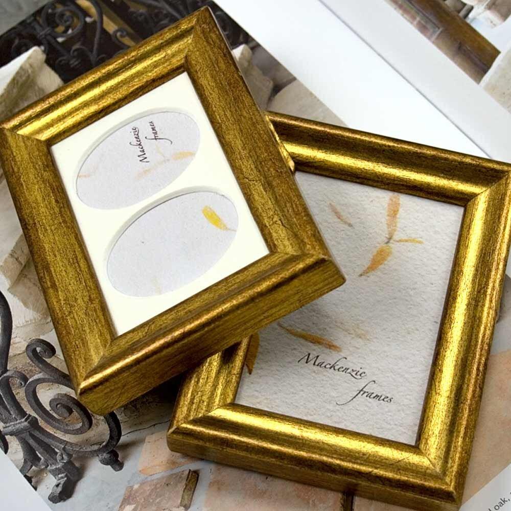 Zwei Bilderrahmen Gold Mini Deluxe ACEO und Double Oval